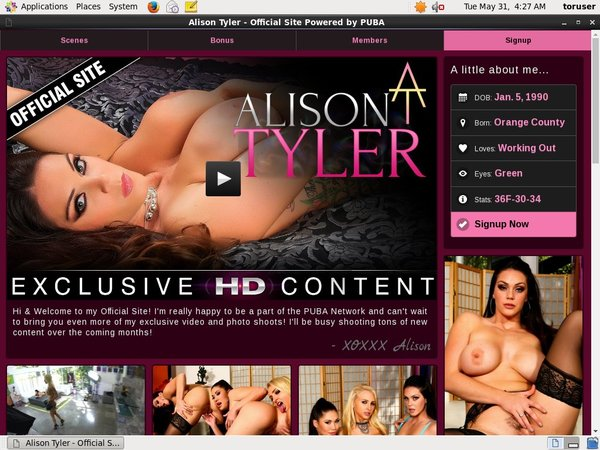 Alison Tyler With AOL Account