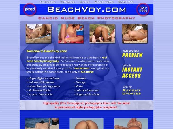 Beach Voy Account New