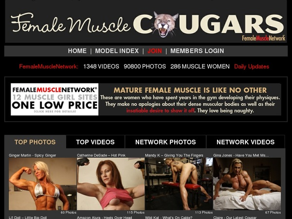 Female Muscle Cougars Logins