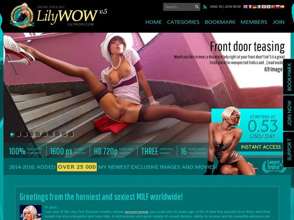 Lily WOW Renew Membership