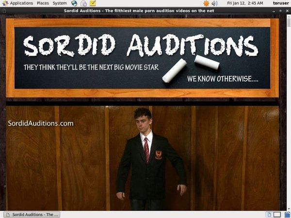 Sordid Auditions Premium Free Account