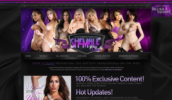 Shemale Club Mobile Account