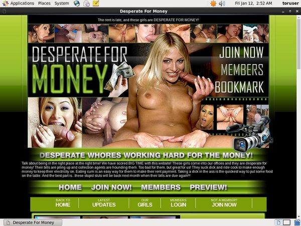 Desperate For Money Trial Membership