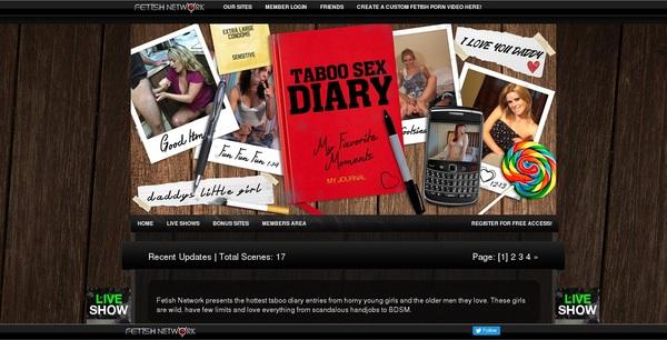 Taboosexdiary.com Account Passwords