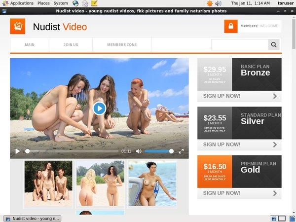 Nudist Video Create Account