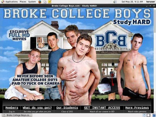 Accounts For Broke College Boys