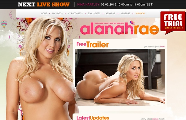 Free Alanahrae.com Account Login