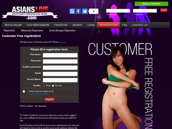 Asians Live Free Membership