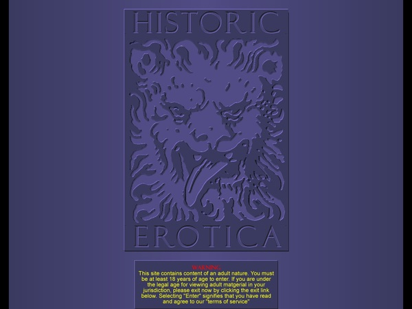 Historic Erotica Account Information